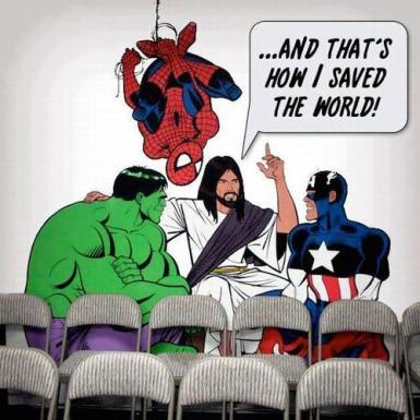 Jesus saved the world just like Superman